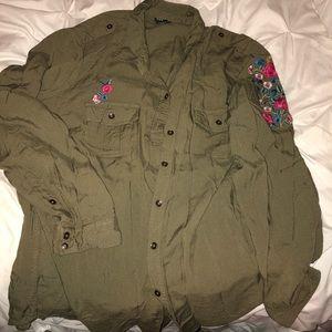 Button up Hunter Green